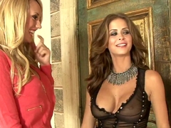 Incredible pornstars Brett Rossi, Emily Addison in Crazy Lesbian, HD xxx movie