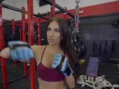 Aubrey Rose Fucked On Gym Bike
