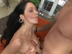Snazzy breasty French Ava Addams having hardcore sex experience