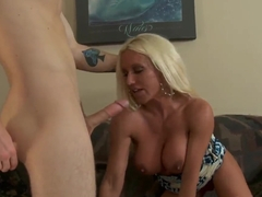 Big Titted Blonde Ashlee Chambers Gets Fucked By Her Son's Friend