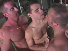 Astonishing homosexual clip with hunk bukkake scenes