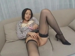 Amazing Japanese girl Jun Kiyomi in Exotic Masturbation, Secretary JAV movie
