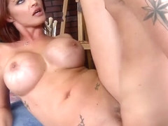 Dirty milf Joslyn James shows off her new fake tits - Brazzers