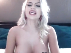 Blonde European Babe Masturbating In Wedding Dress Part 03