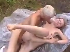 Sweet petite skinny Russian Girl fucked outdoor