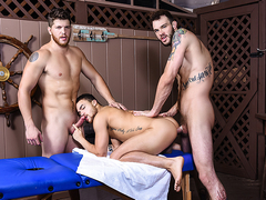 Ashton McKay & Beaux Banks & Cliff Jensen in Couples Massage Part 2 - DrillMyHole