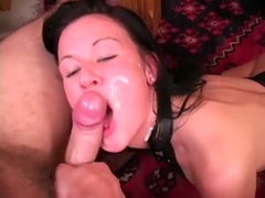College beauty Lolly Badcock enjoys cleaning her man's long dick