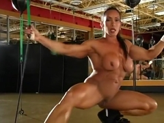 Denise Masino nude in the gym