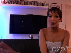 Arabic beauty Jasmine as an escort girl. POV threesome