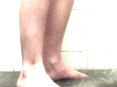 Getting My Feet Nice and Wet in the Shower!