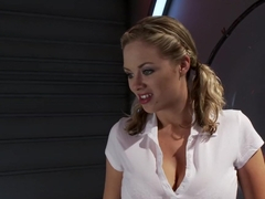 Horny big tits, fetish sex video with amazing pornstar Katie Kox from Fuckingmachines