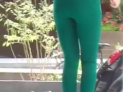 Spying on sexy yoga trainer in spandex
