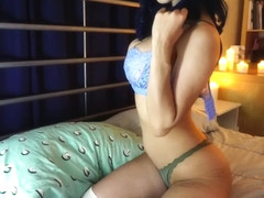 Cute busty chick takes time for orgasm