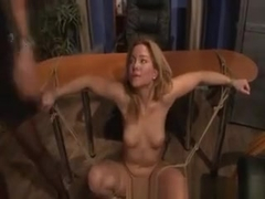 Blonde Beautys Hot Body Being Slapped Hard