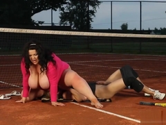 Bbw Milf Won In Tennis Game Claiming Her Price Outdoor Sex