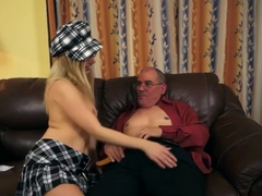Spex Teen Banging Pensioner