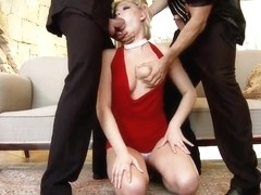 Slutty Lucy heart gets into hot threesome