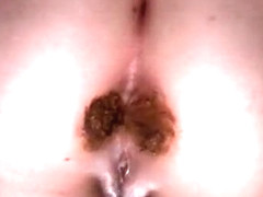 My brother's girlfriend with a nice booty taking huge feces
