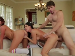 CBT - India Summer And Cassandra Nix Share Hard Cock