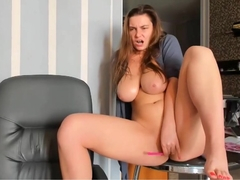 4:50-7:20 Waterfall Squirts Sexy Ukrainian Boobs