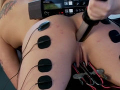 Electro Ass Fucking for Dahlia Sky!