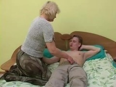 sexy grandma Lena seduce young Alex
