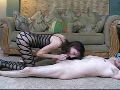 Mother I'd Like To Fuck In Bodystocking Copulates For A Sperm Pie !