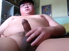 Chubby guy s 38th cumshot