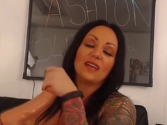 Awesome beauty MILF Ashton with fabulous pierced tits