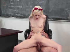 Tiny Schoolgirl Drilled By Teachers Big Dick
