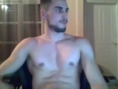 Handsome fit boy cums on cam  big cock   great round ass