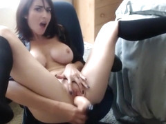 A Chick With Big Fake Tits Has Fun