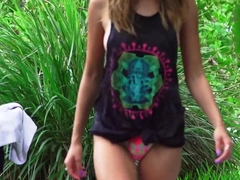Tanning Teen Melissa Moore Likes It Rough