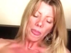 Divorced blonde MILF gets bonked in her smooth pussy