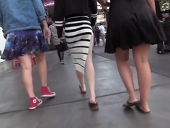 Candid sexy tight ass in amazing slutty skirt