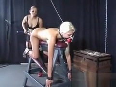 Blonde Slave Toy Fucked