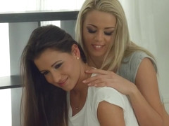 Lesbian scene with Cindy Bubble and Christen Courtney by Sapphic Erotica