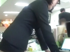 humiliated asian milf lets her boss touch her ass in front of colleagues !