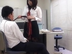 Chika Arimura Anal Orgasm And Ejaculation Management QUEEN Uniform Prank