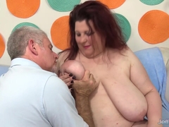 BBW Stazi Has Her Huge Tits and Belly Worshipped and Then Gets Ass Fucked