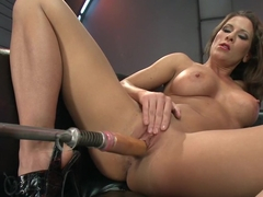 Fabulous fetish, squirting xxx movie with best pornstar Ariel X from Fuckingmachines