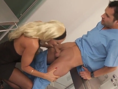 Big racked milf Brittany Andrews gets banged by male nurse