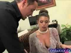 Very sexy brunette lawyer with luscious boobs
