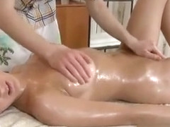 Oiled beauty offers her pussy for a stunning sex act