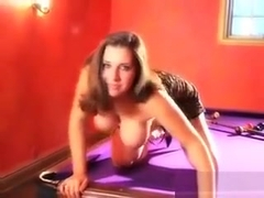 Hot And Horny Girl Teases On The Pool Table