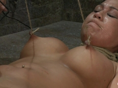 Tied And Stretch Huge Nipplesbrutal Squirting Orgasmsscreaming Never Sounded So Good. - HogTied