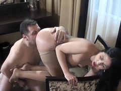Anal slut Julia De Lucia takes dick