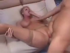 Dirty talking mom loves young cock