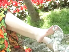Chinese Girl Feet In Sandals