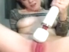 Horny Blonde Pleasing Her Clit